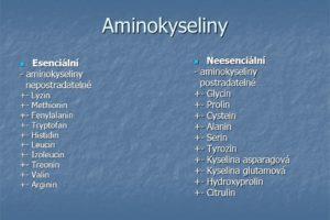 Aminokyseliny+Neesenciální+Esenciální+-+aminokyseliny+-+aminokyseliny